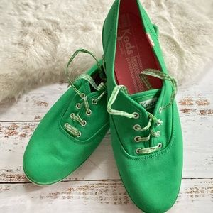 Keds green and pink sneakers size 10